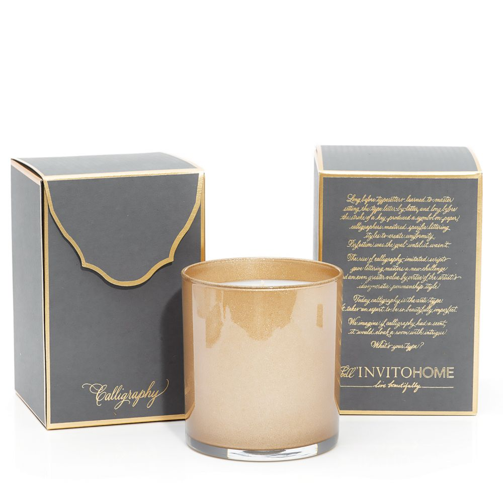 Calligraphy Font Candle