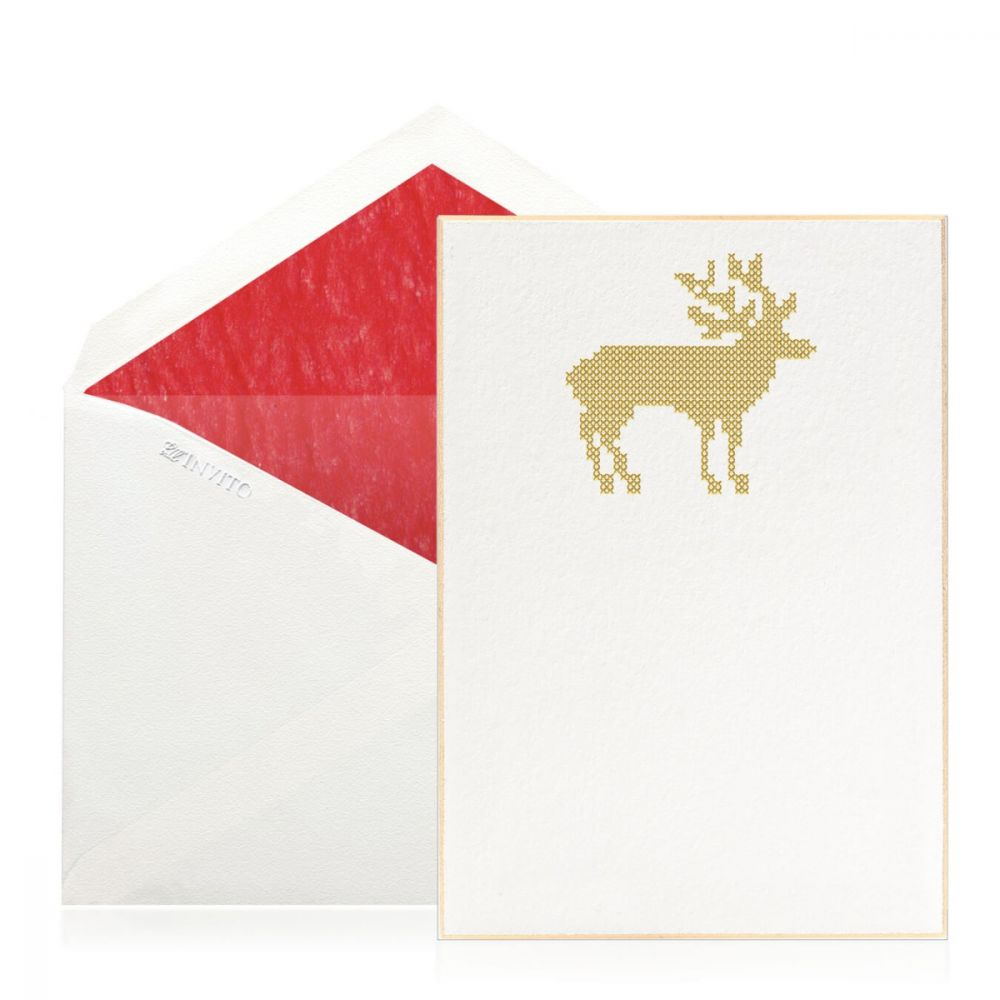Boxed Cross Stitch Reindeer