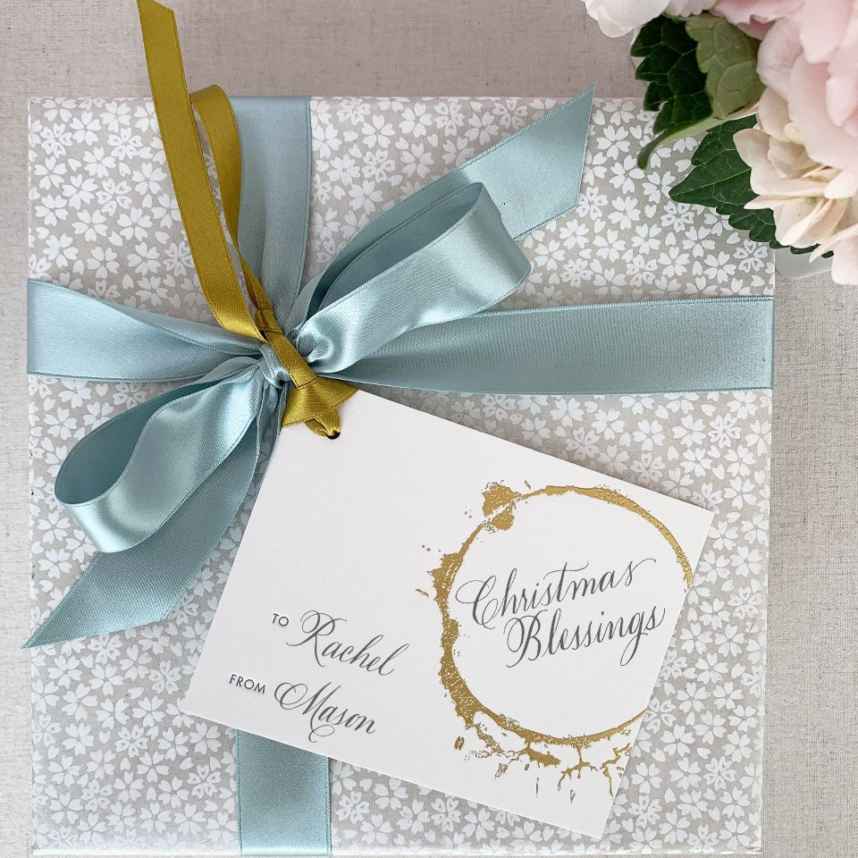 Gold Ring Gift Tag
