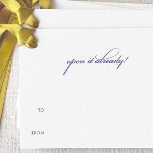 Open It Already Gift Tag