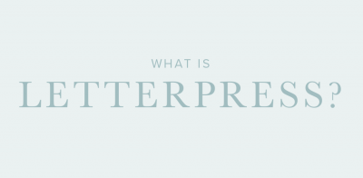 What is Letterpress?
