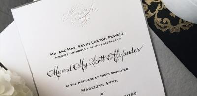 INVITATIONS FOR A WHITE TIE EVENT